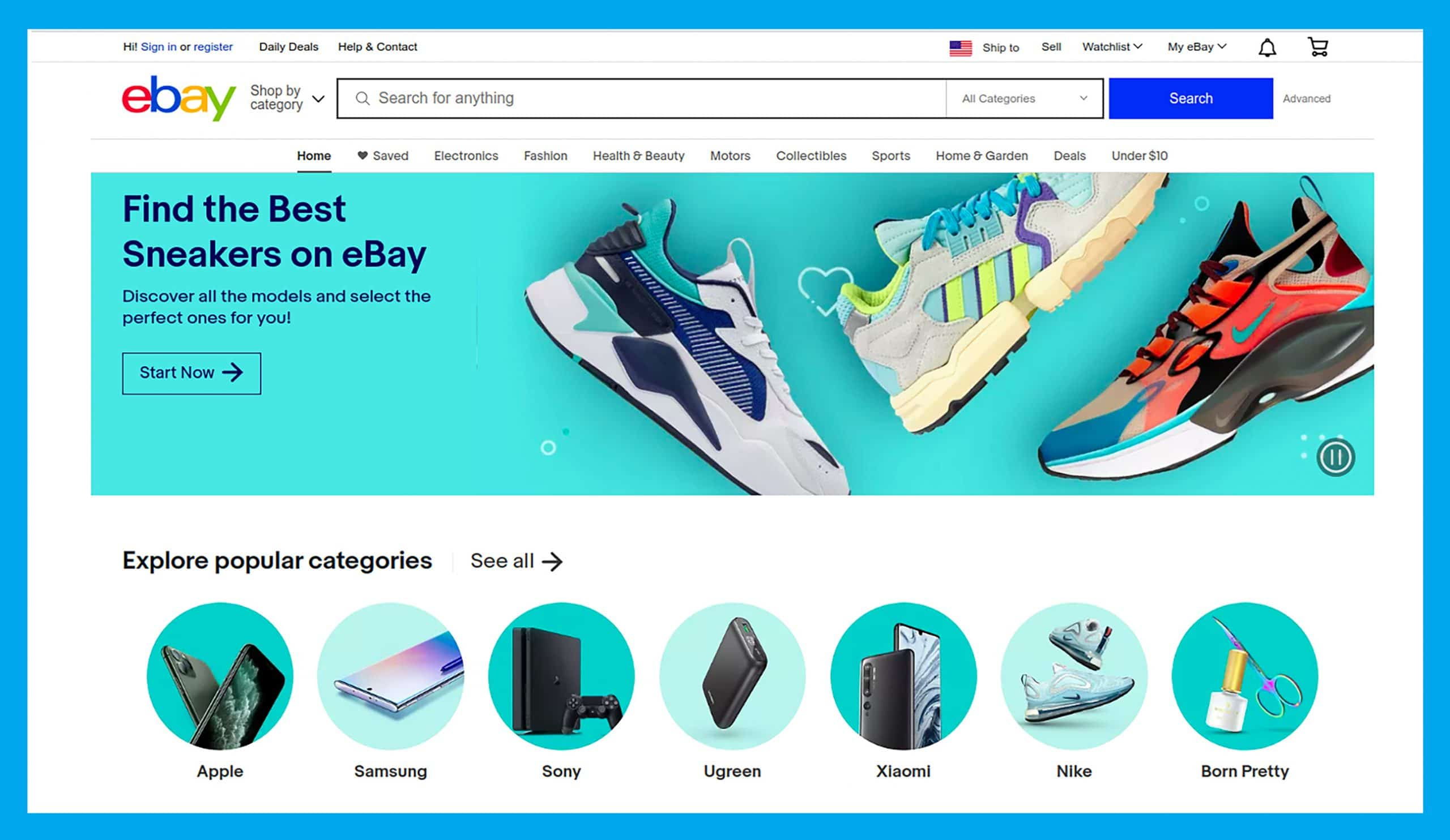 eBay provides smooth UX with easy and intuitive design